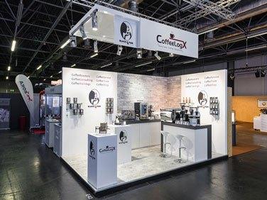 Messestand für die Firma CoffeeLogX von XPOSIGN - Messebau